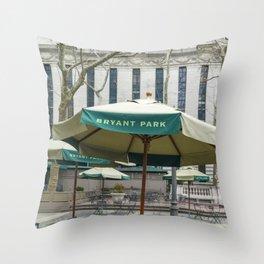 Bryant Park New York City Throw Pillow