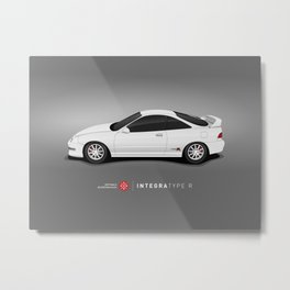 Integra Type R (White) Metal Print