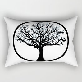 Tree in back and blue Rectangular Pillow