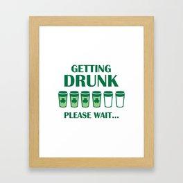 Getting Drunk Framed Art Print