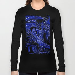 Marble,liquified graphic effect Long Sleeve T-shirt