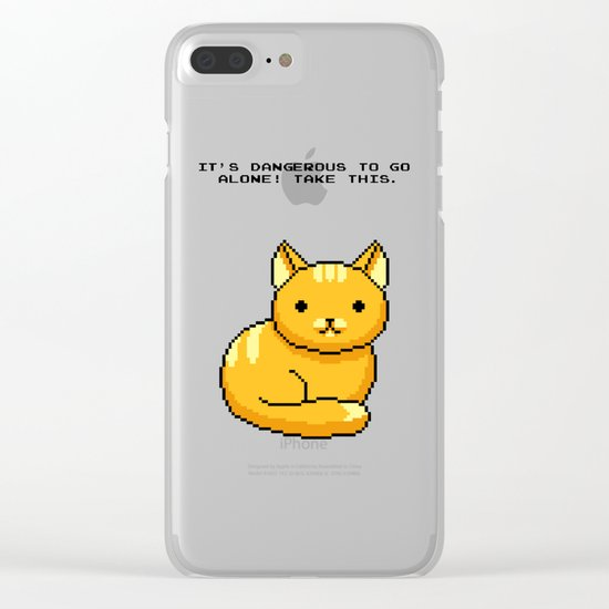 ITS DANGEROUS TO GO ALONE Take This Cat Clear iPhone Case