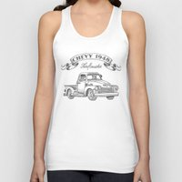 truck Tank Tops featuring Chevy Truck by pakowacz