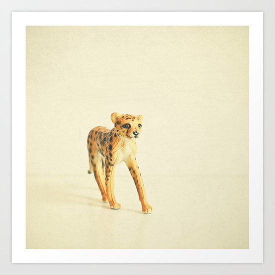Catwalk Cheetah Art Print