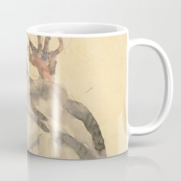 """Egon Schiele """"I Will Gladly Endure for Art and My Loved Ones"""" Coffee Mug"""
