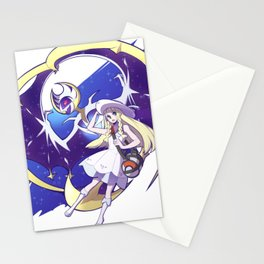 Sun and Moon Lunala and Lille Nebby Stationery Cards