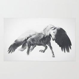 Pegasus (Black & White) Rug