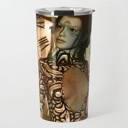 Steampunk, beautiful steampunk women Travel Mug