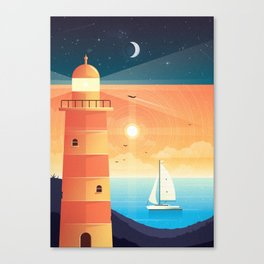 Day & Night Canvas Print