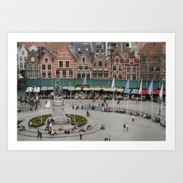 Bruges Main Square Art Print
