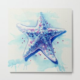 Starfish Waters I natural Metal Print