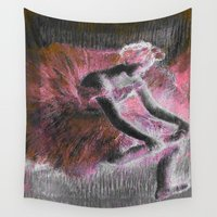 ballerina Wall Tapestries featuring ballerina. by PureVintageLove