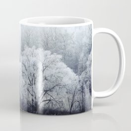 Foggy Winter Landscape with snow covered Trees Coffee Mug