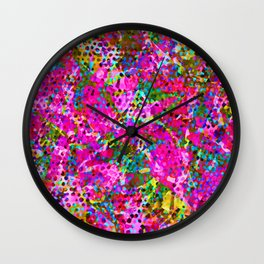 Floral Abstract Stained Glass G548 Wall Clock