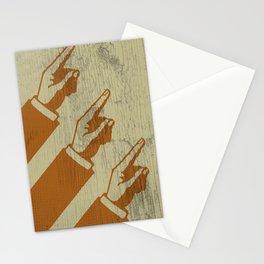 Hier sind die Hände, die nach Norden zeigen Stationery Cards