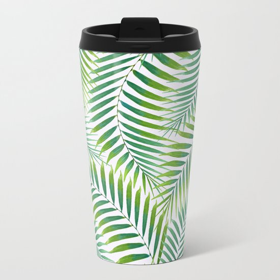 Palm leaves VI Metal Travel Mug
