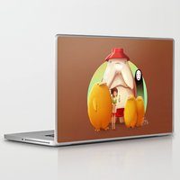 ghibli Laptop & iPad Skins featuring Studio Ghibli - Radish Spirit by Laurence Andrew Page Illustrator