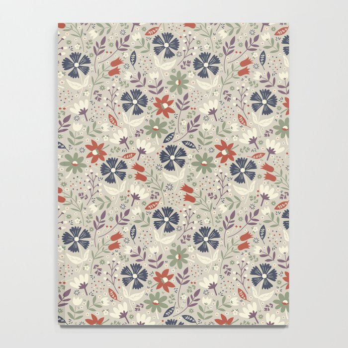 Retro Flora Notebook