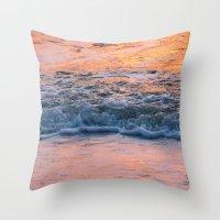 north carolina Throw Pillows featuring North Carolina by Patricia McNickle