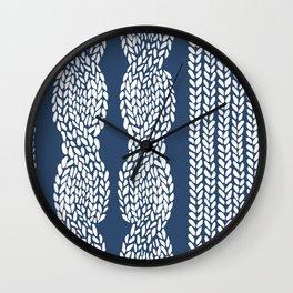 Cable Row Navy 1 Wall Clock