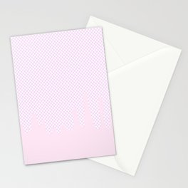 Pink Checkered Drip Stationery Cards