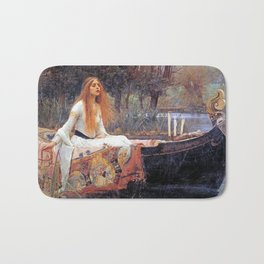 THE LADY OF SHALLOT - WATERHOUSE Bath Mat