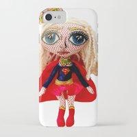 karu kara iPhone & iPod Cases featuring Kara Zoe-El ~ Supergirl by Chiara Venice Art Dolls