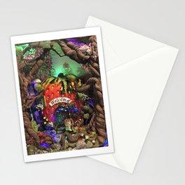 "9"" x 8"" strawberry bunny Stationery Cards"