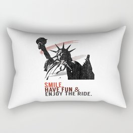 Smile, have fun and enjoy the ride in New York. Rectangular Pillow