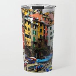 Cinque Terre Boats & Colorful Homes Travel Mug