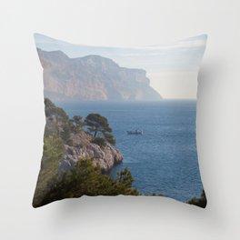 Calanques de Cassis 8615 Throw Pillow