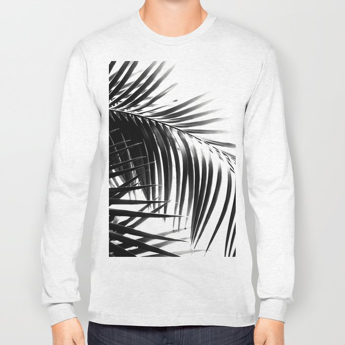 Palm Leaves Black & White Vibes #3 #tropical #decor #art #society6 Long Sleeve T-shirt