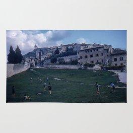 Vintage Color Photo * Italian Life * Soccer * Football * Youth * Kodachrome Rug