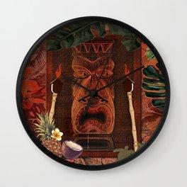 Forbidden Luau Tiki Party Wall Clock