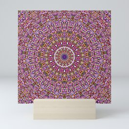 Colorful Spiritual Garden Mandala Mini Art Print