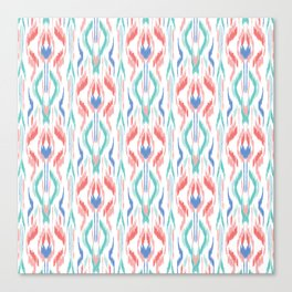 Sun Dress Ikat Canvas Print