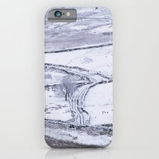 Mountain road covered in snow. 'The Struggle', road to Ambleside from the Kirkstone Pass. iPhone 6s Slim Case