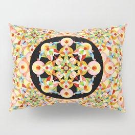 Pastel Carousel Black Circle Pillow Sham