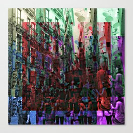 Hustle hubbub bustle substance. Canvas Print