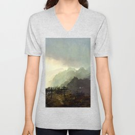 Misty Mountain Unisex V-Neck