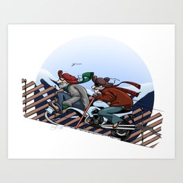 Motorized Kicksled Art Print