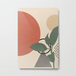 Abstract Art Print Geometric Mobile Minimalist Modern Wall Art Poster - Framed Wall Art Illustration Print Bedroom Decor Metal Print