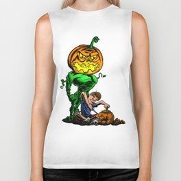 Pumpkin Head Biker Tank