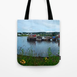 Fisherman's Wharf in Cape Breton Tote Bag