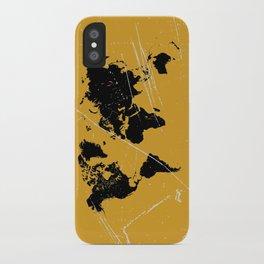 Grunge world map iPhone Case