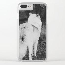 Vigilant Wolf Clear iPhone Case