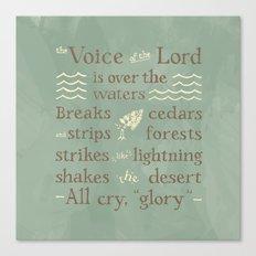 Psalm 29 Canvas Print