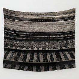 Train Crossing Wall Tapestry