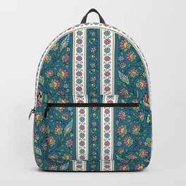 Floral on Teal Backpack