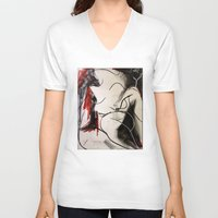 chameleon V-neck T-shirts featuring Chameleon by Helen Syron
